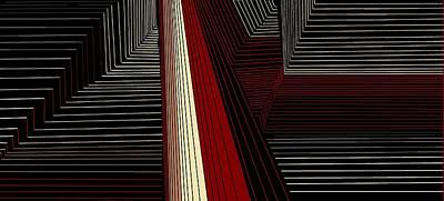 Digital Art - Lines 36 by Linda Velasquez