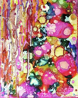 Mixed Media - Lines And Bubbles by Desiree Paquette