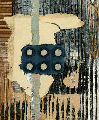 Mixed Media - Lines And Dots Collage by Carol Leigh