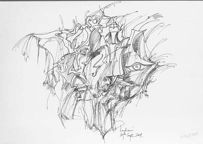 Lines And Forms Art Print by Padamvir Singh