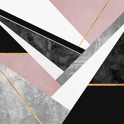 Digital Wall Art - Digital Art - Lines And Layers by Elisabeth Fredriksson