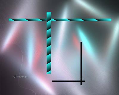 Digital Art - Lines And Shines by Kae Cheatham
