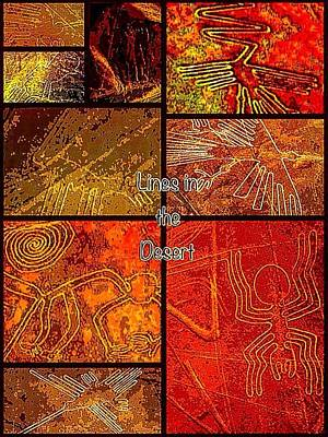 Digital Art - Lines In The Desert by Karen Buford