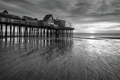 Photograph - Lines In The Sand - B/w by Michael Blanchette