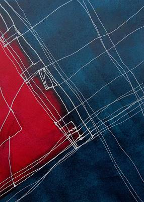 Canadian Painting - Lines Lines Two by Louise Adams