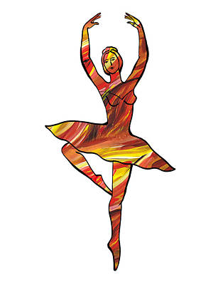 Painting - Lines Of Flames Ballerina Silhouette by Irina Sztukowski