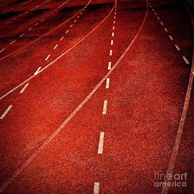 Repetition Photograph - Lines Of Stadium by Bernard Jaubert