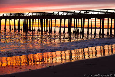 Photograph - Sunset Seacliff Shadows by Lora Lee Chapman