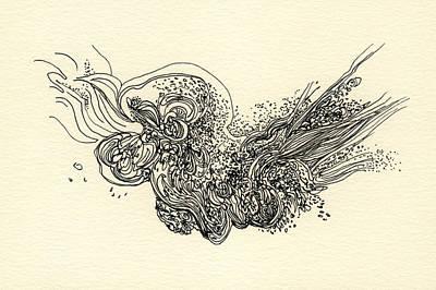 Lines - #ss13dw010 Art Print by Satomi Sugimoto