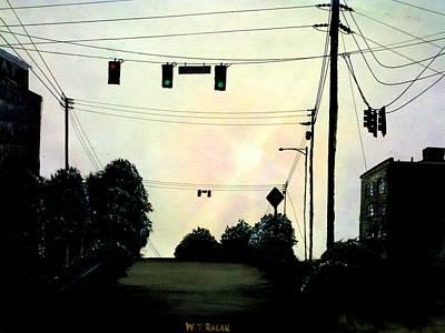 Powerlines Painting - Lines by Travis  Ragan