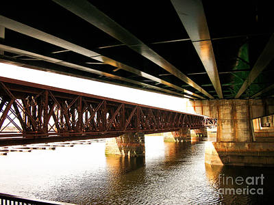 Photograph - Lines Under The Bridge, Newburyport, Massachusetts by Lita Kelley
