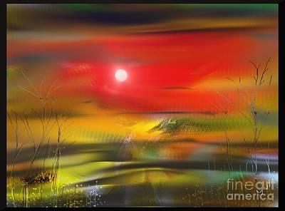 Digital Art - Midnight Flame by Yul Olaivar