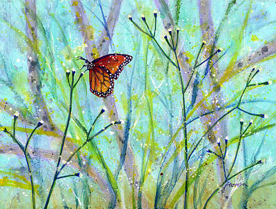 Monarch Butterfly Painting - Lingering Memory 2 by Hailey E Herrera