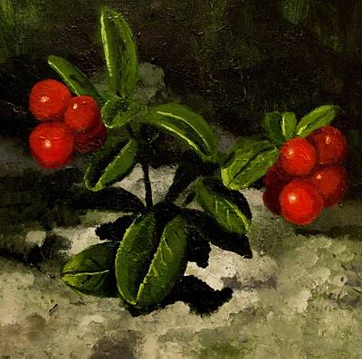 Painting - Lingon Berries by Mats Eriksson