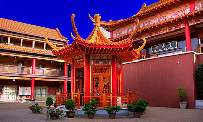 Buddhist Photograph - Lingyen Mountain Temple 32 by Lawrence Christopher