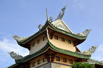 Photograph - Linh Ung Temple Roof by Andrew Dinh