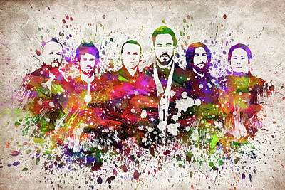 Jay Z Digital Art - Linkin Park In Color by Aged Pixel