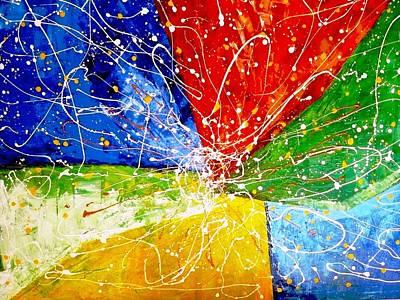 Abstractz Painting - Linkz by Piety Dsilva