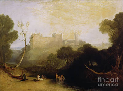 Bather Painting - Linlithgow Palace by Joseph Mallord William Turner