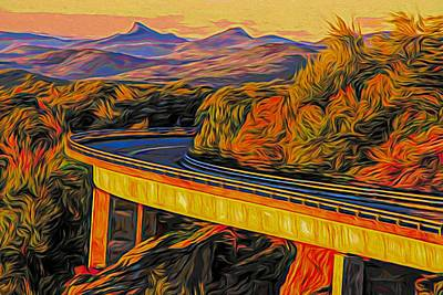 Painting - Linn Cove Viaduct by Dan Sproul