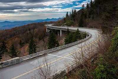 Photograph - Linn Cove Viaduct Late Fall by Mike Koenig