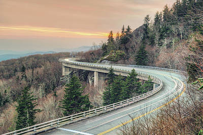 Photograph - Linn Cove Viaduct by Ray Devlin
