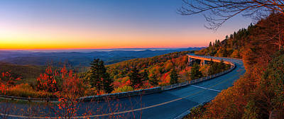 Smokey Mountains Photograph - Linn Cove Viaduct by Taylor Franta