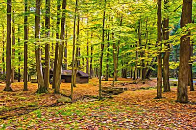Highland Park Photograph - Linn Run Pennsylvania - Paint by Steve Harrington