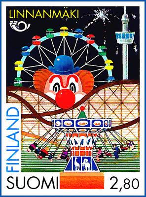 Linnanmaki Amusement Park Art Print