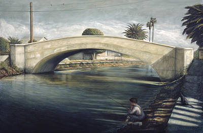 Linnie Canel Venice  Art Print by Lance Anderson