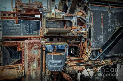 Photograph - Linotype Steampunk Machine by Luther Fine Art