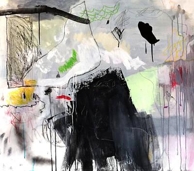 Painting - L'insaisissable-2 by Diane Desrochers