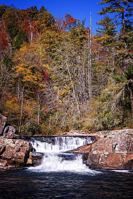 Photograph - Linville Falls, Autumn by Alan Raasch