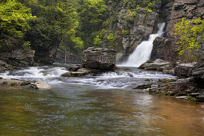 Photograph - Linville Falls Basin by Ken Barrett