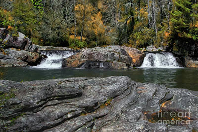 Photograph - Linville Falls - Lower View by Scott Hervieux