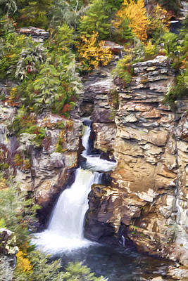 Photograph - Linville Lower Falls by John Haldane