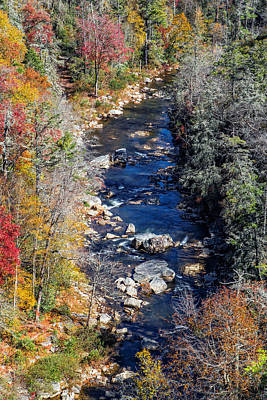 Photograph - Linville River Autumn by Alan Raasch
