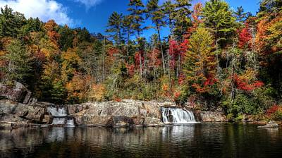 Waterfalls Photograph - Linville Upper Falls During Fall by Carol R Montoya