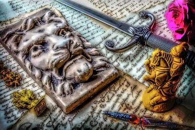 Secrets. Faces Photograph - Lion And Dagger by Garry Gay