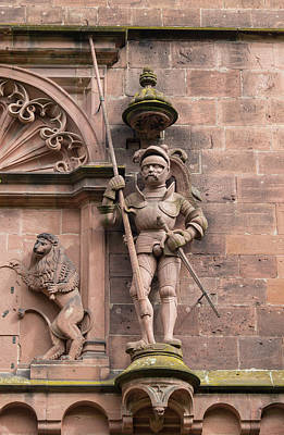 Palatine Photograph - Lion And Guard At Heidelberg Castle by Teresa Mucha