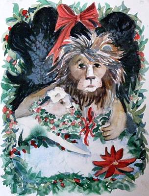 Lion And Lamb Original by Mindy Newman