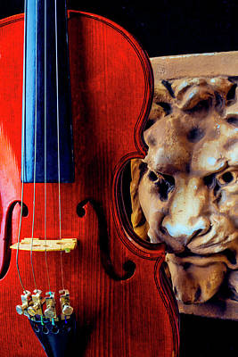 Photograph - Lion And Violin by Garry Gay