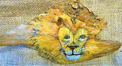 Mixed Media - Lion by Ann Michelle Swadener