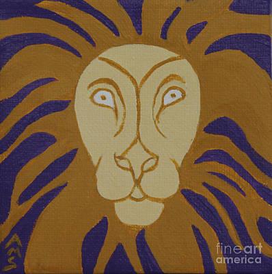 Painting - Lion by Annette M Stevenson