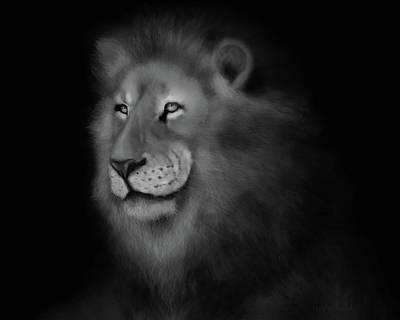 Digital Art - Lion Art by Angela Murdock