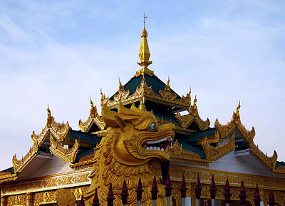 Photograph - Lion At Kuthodaw Pagoda, Mandalay by Kurt Van Wagner
