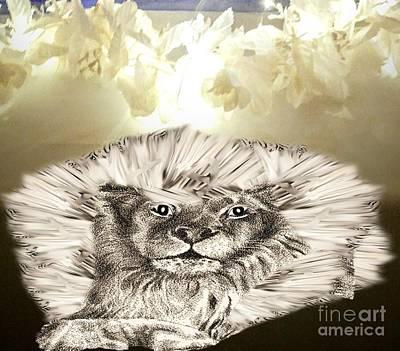 Painting - Lion Boasting Its Mane by Belinda Threeths