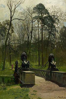 Painting - Lion Bridge In The Tiergarten by Louis Douzette