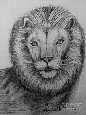 Lion Art Print by Brindha Naveen