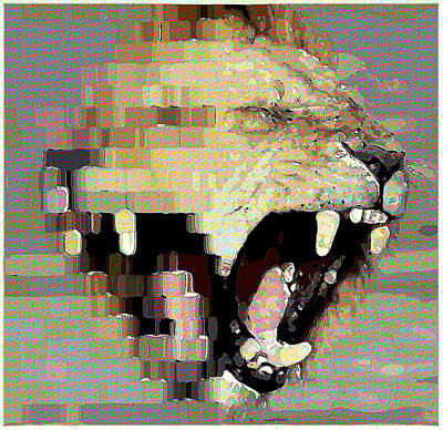 Mixed Media - Lion By Patricia Griffin by Patricia Griffin